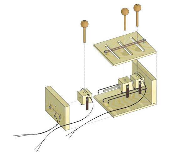 Kabelfernsteuerung mit 6 Funktionen