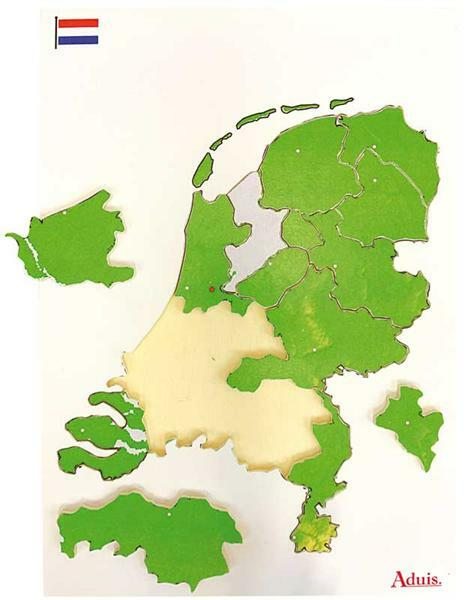 Puzzel Nederland provincies