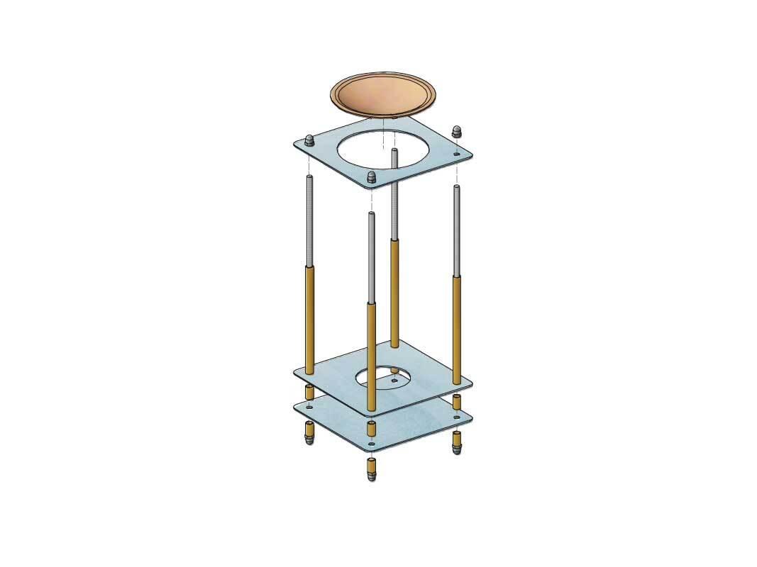 Metall Duftlampe