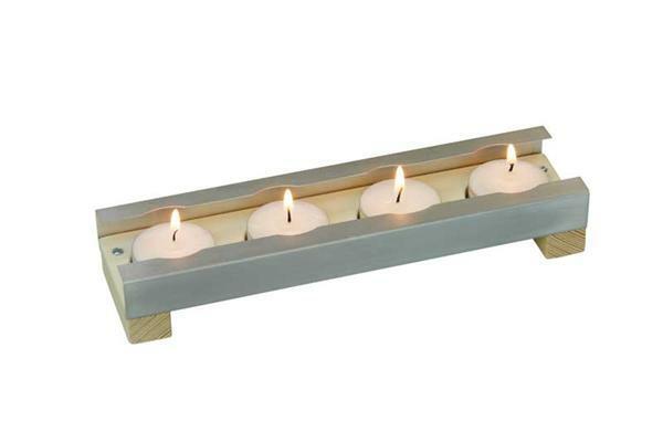 Support 4 bougies chauffe-plat