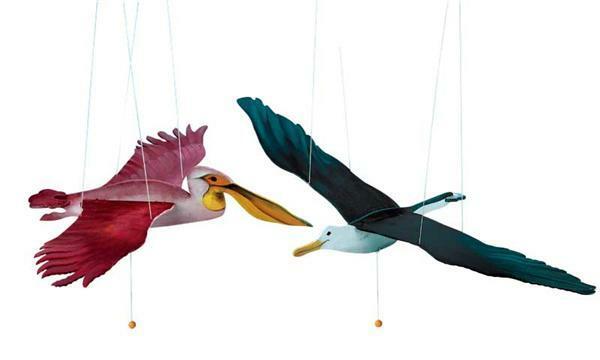 Mobiel meeuw of pelikaan
