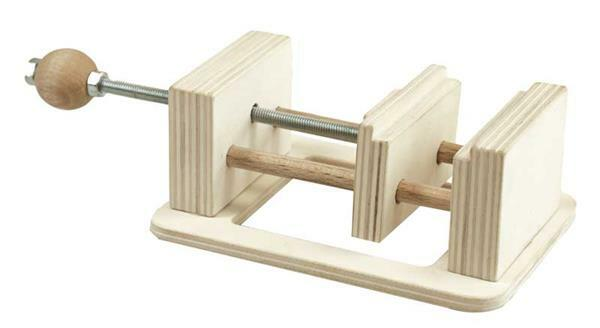 Schraubstock aus Holz