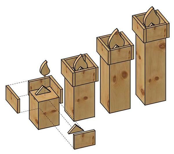 Bougies en bois de pin cimbre