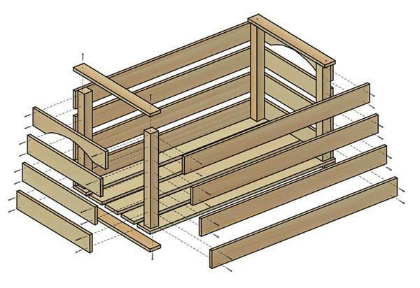 Caisse en bois à usage multiple