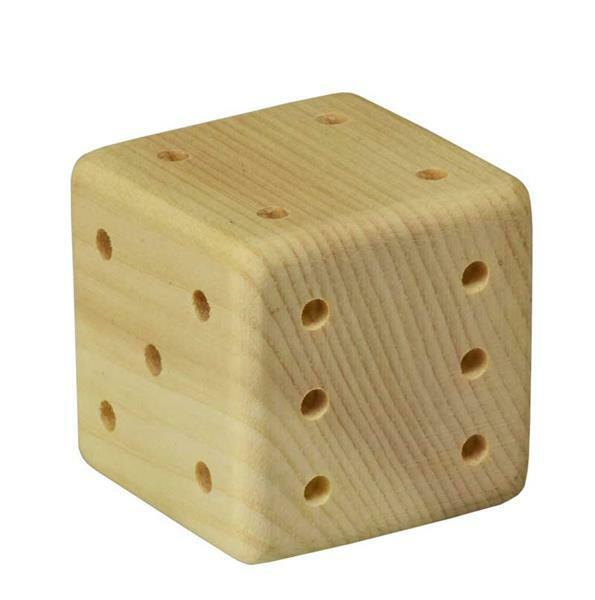 Zirbenholz Würfel - 10 Stück