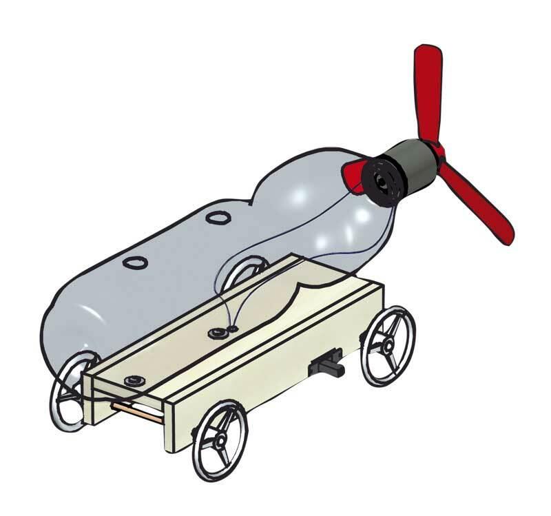 Voiture à hélice PET