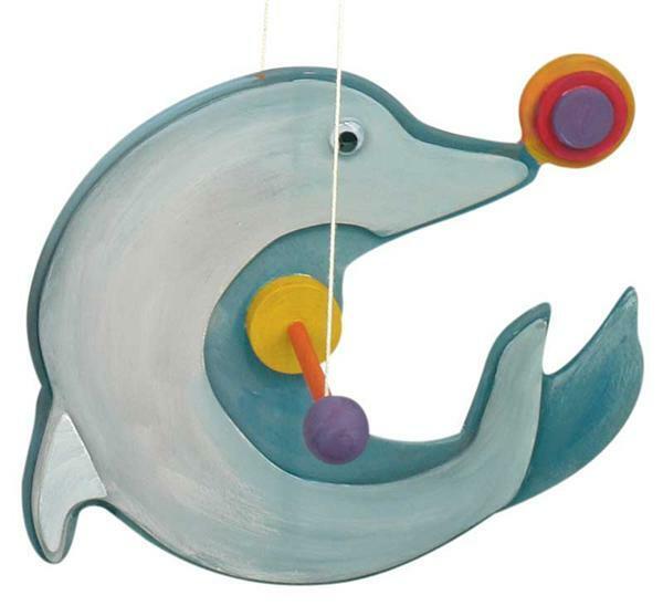 Papagei oder Delphin auf Rolle