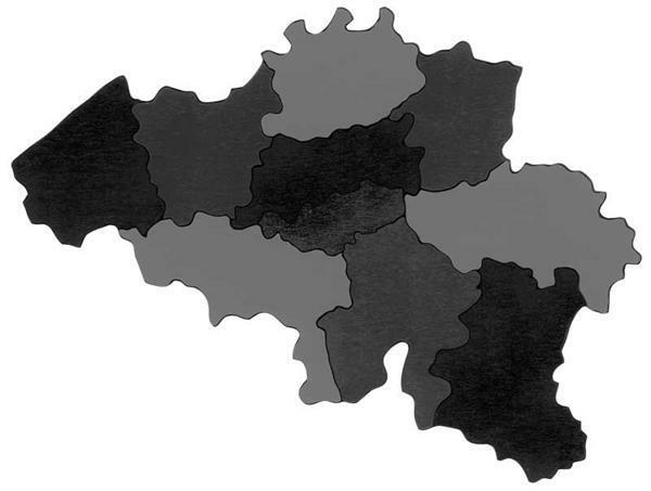 Puzzle en carton : La Belgique