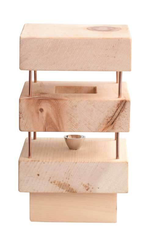 Lampe de chevet en pin cimbre