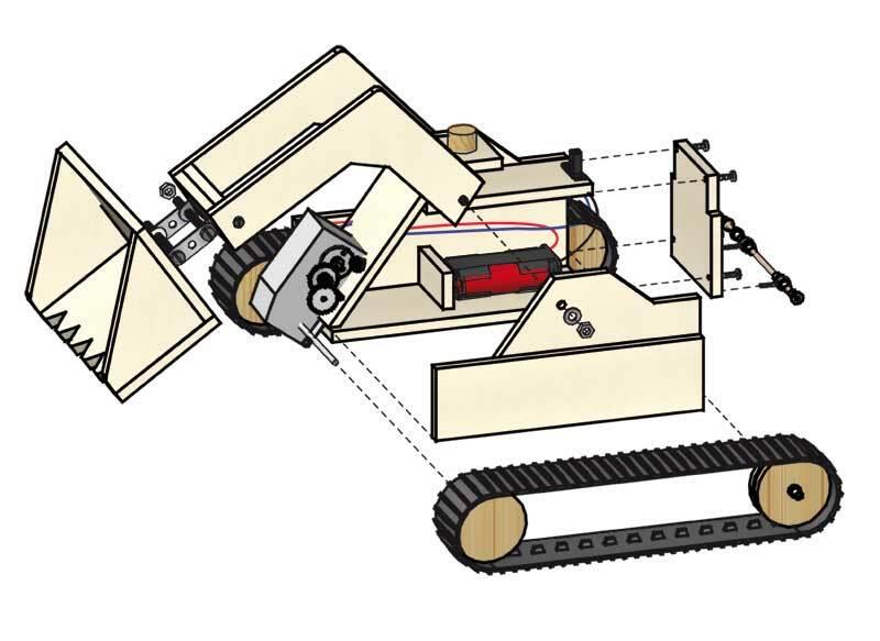 Schubraupe mit Elektroantrieb