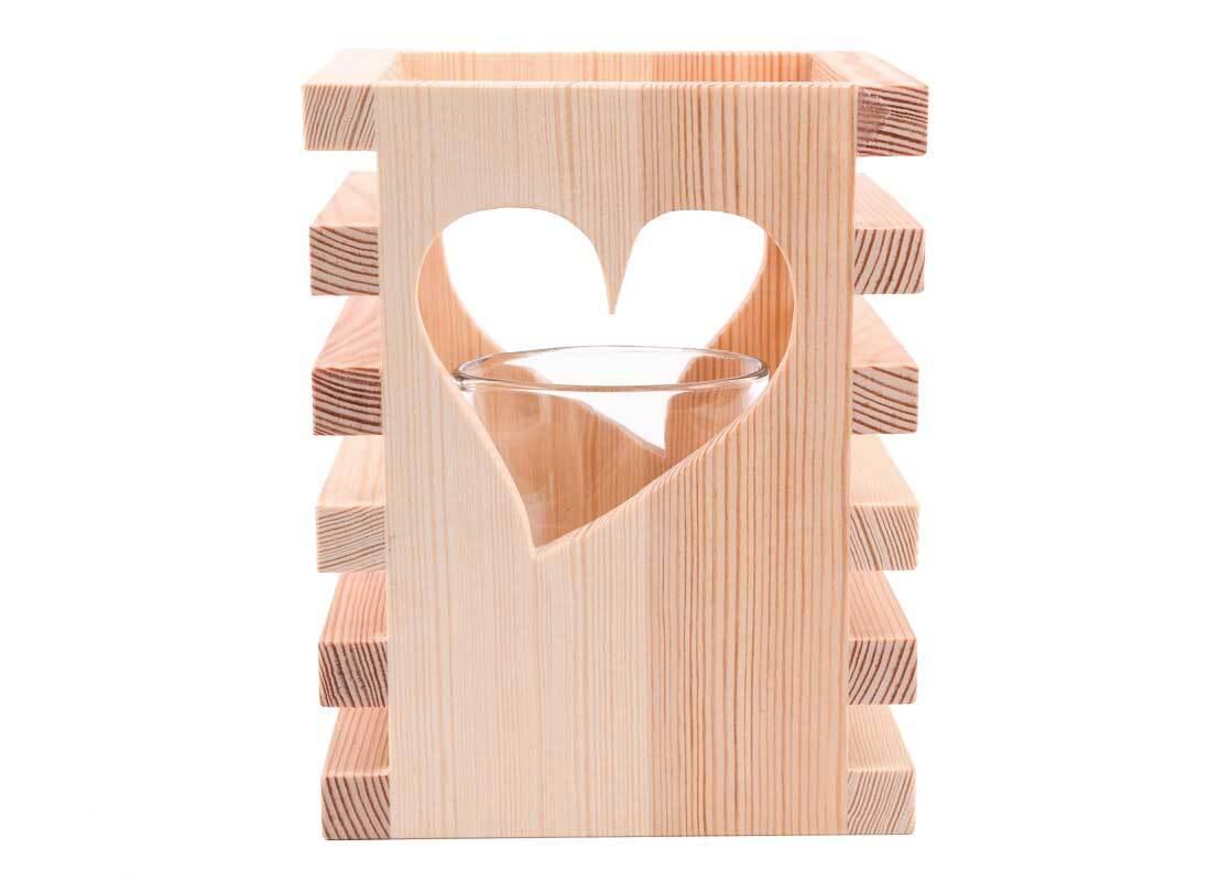 Windlicht van hout