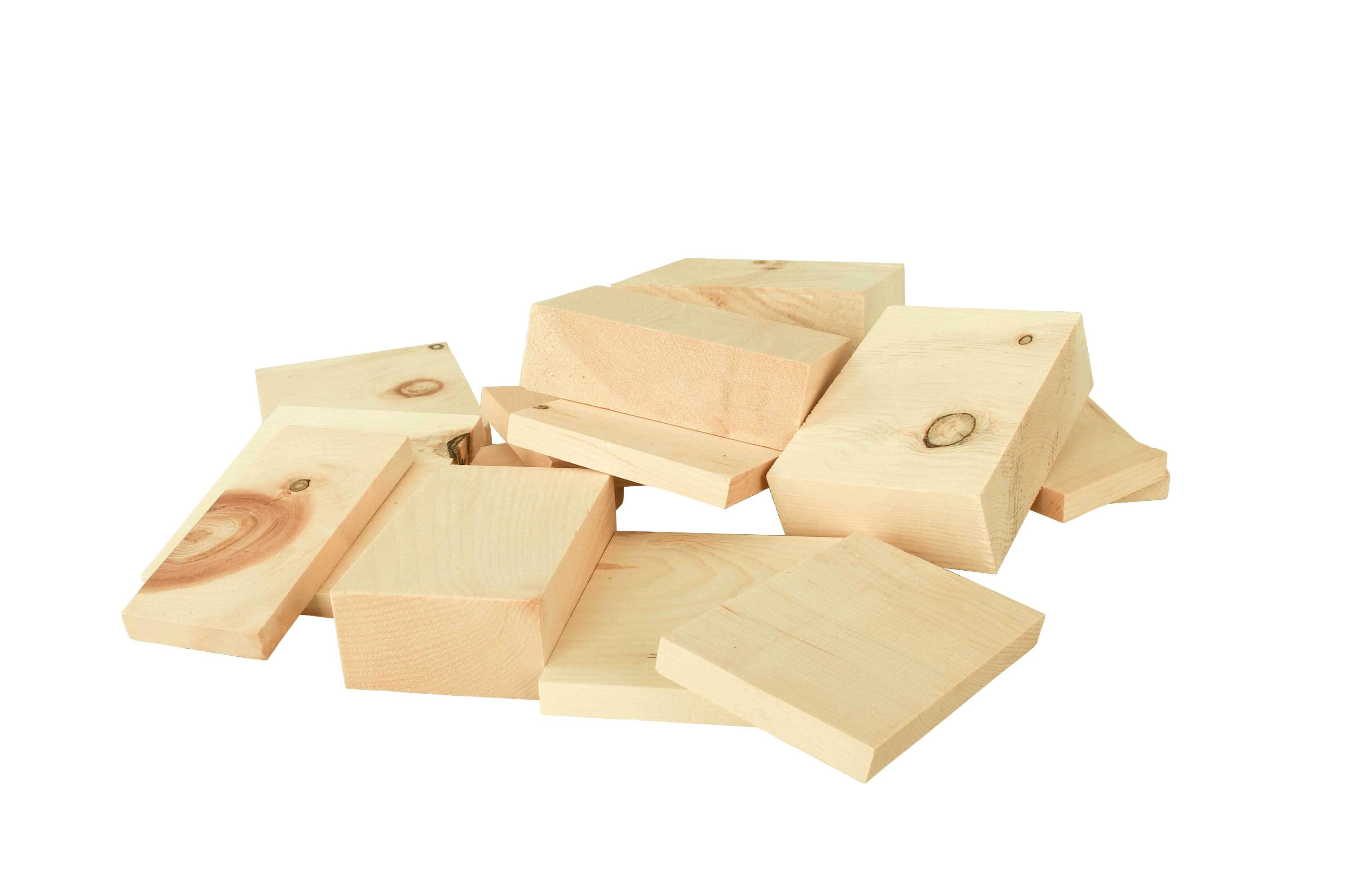 Houten blokjes - alpenden, 0,5 kg