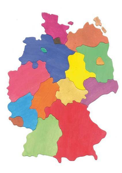 Puzzle Pappkarton - Bundesländer Deutschlands