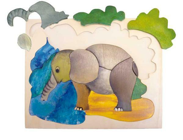 Puzzle éléphant - instructions