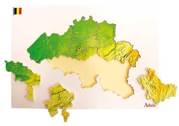 Puzzle en bois : la Belgique