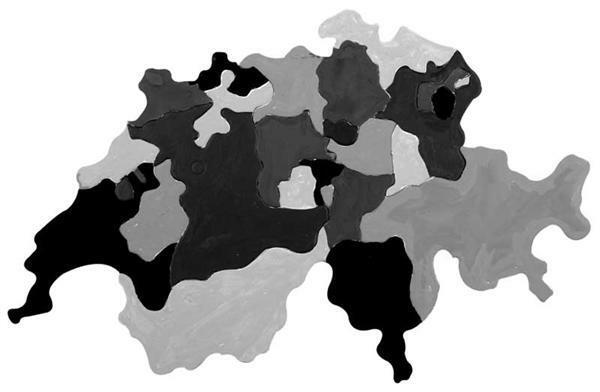 Puzzle Pappkarton - Kantone der Schweiz