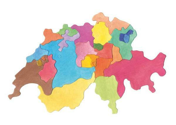 Puzzel karton Zwitserland