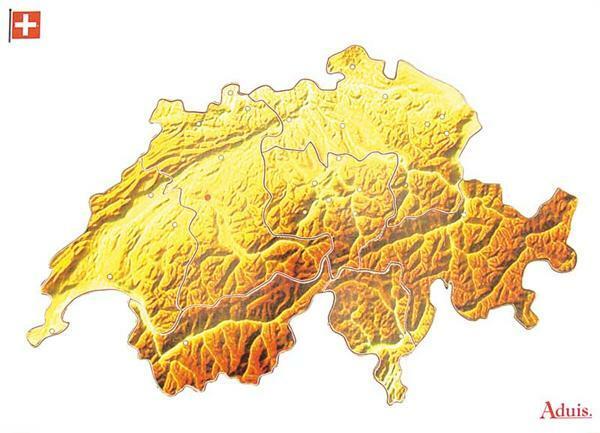 Puzzle en bois : Les cantons de Suisse