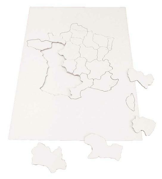Puzzel karton Frankrijk regio's