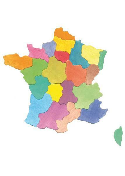 Puzzle Pappkarton - Regionen Frankreichs