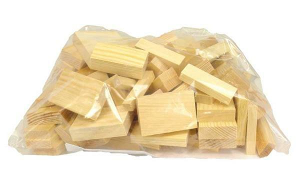 Mixverpakking hout - 1 kg