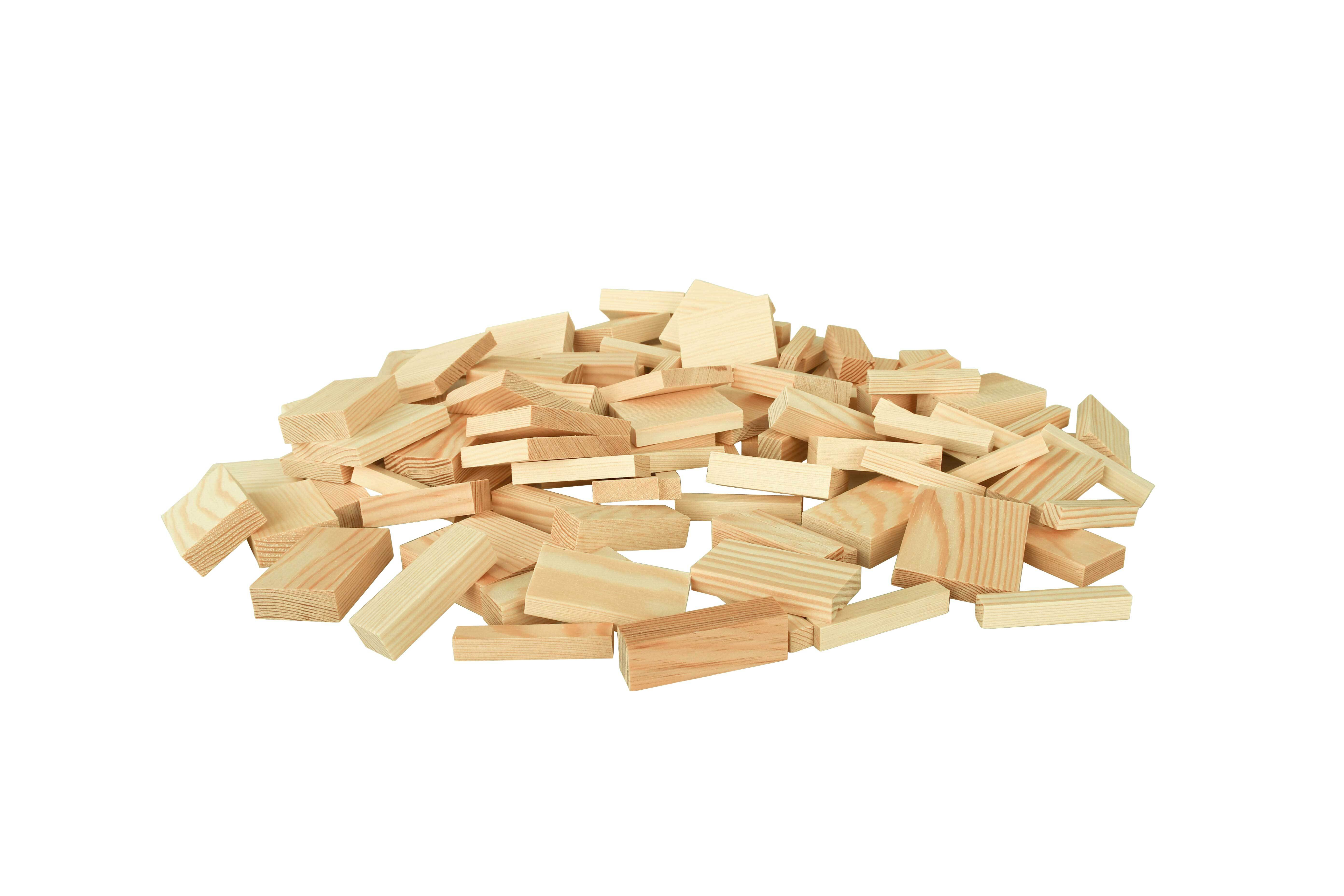 Houten blokjes - grenen, 1 kg