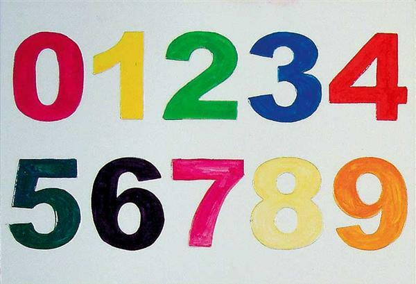 Zahlen 1, 2, 3 …