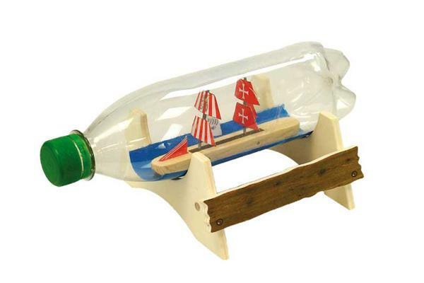 Flaschenschiff Piratenschatz