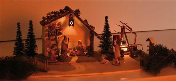"""La crèche de Noël """"Romantique"""""""