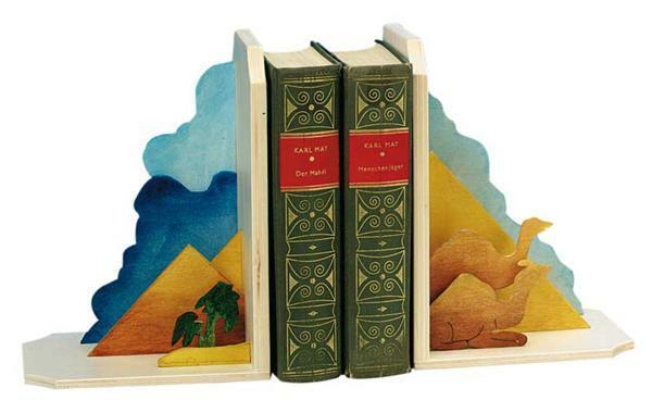 Boekensteunen met 3D effect - piramide