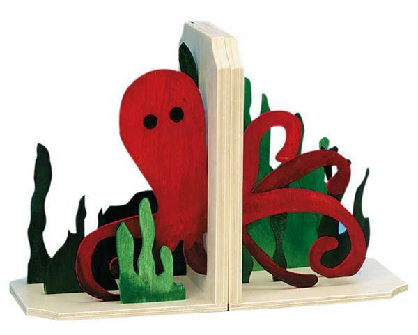 Boekensteunen met 3D effect - inktvis