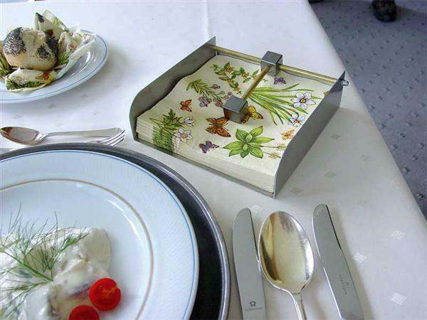 Box für Servietten - der feine Tisch