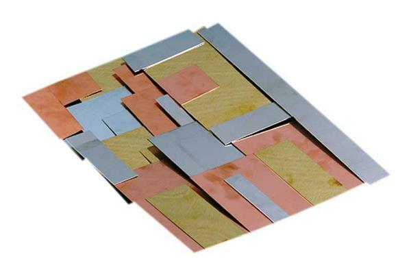 Assortiment de panneaux de métaux 1 kg