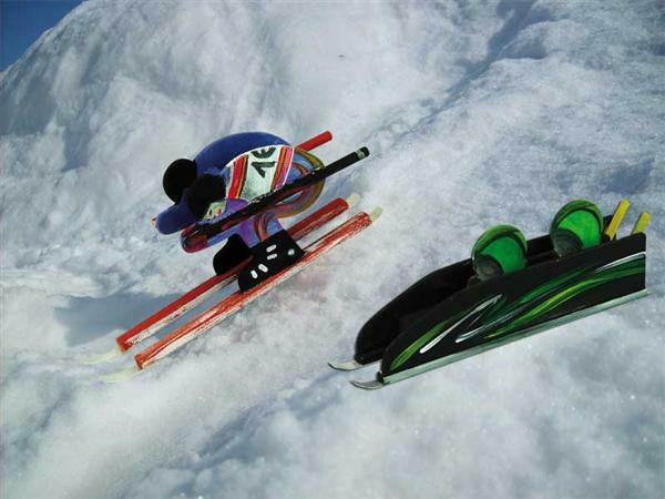 Bob bzw. Skifahrer