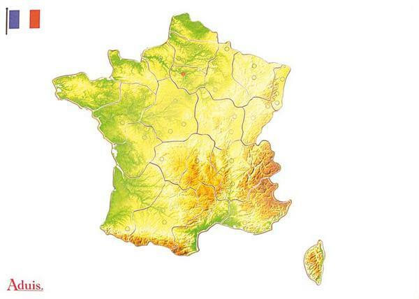 Puzzel Frankrijk regio's