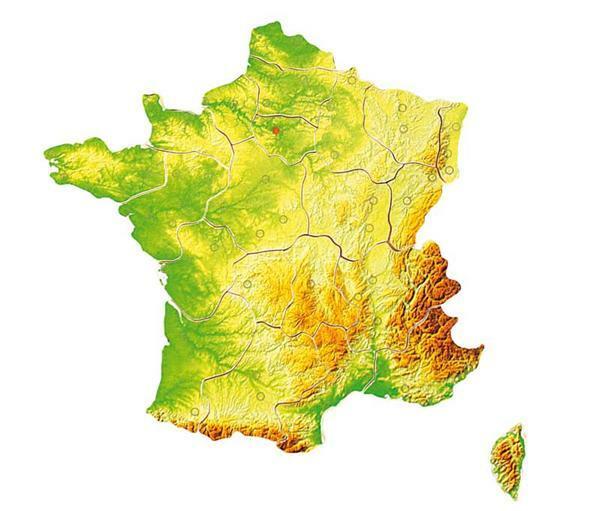 Puzzle Frankreich Regionen