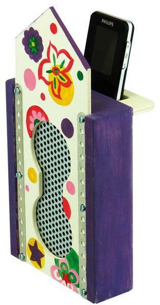 MP3 Sound Box - Stereo mit Holzabdeckung