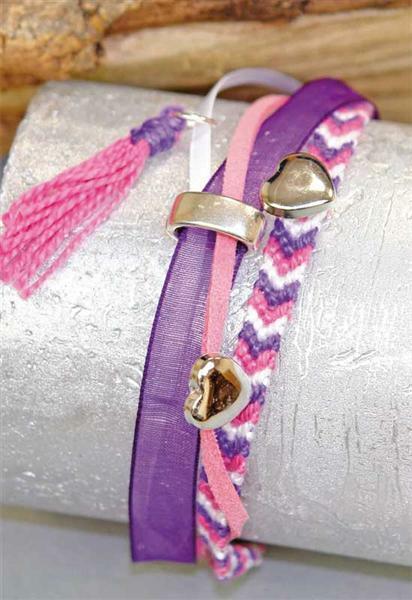 Armband-Set, lila