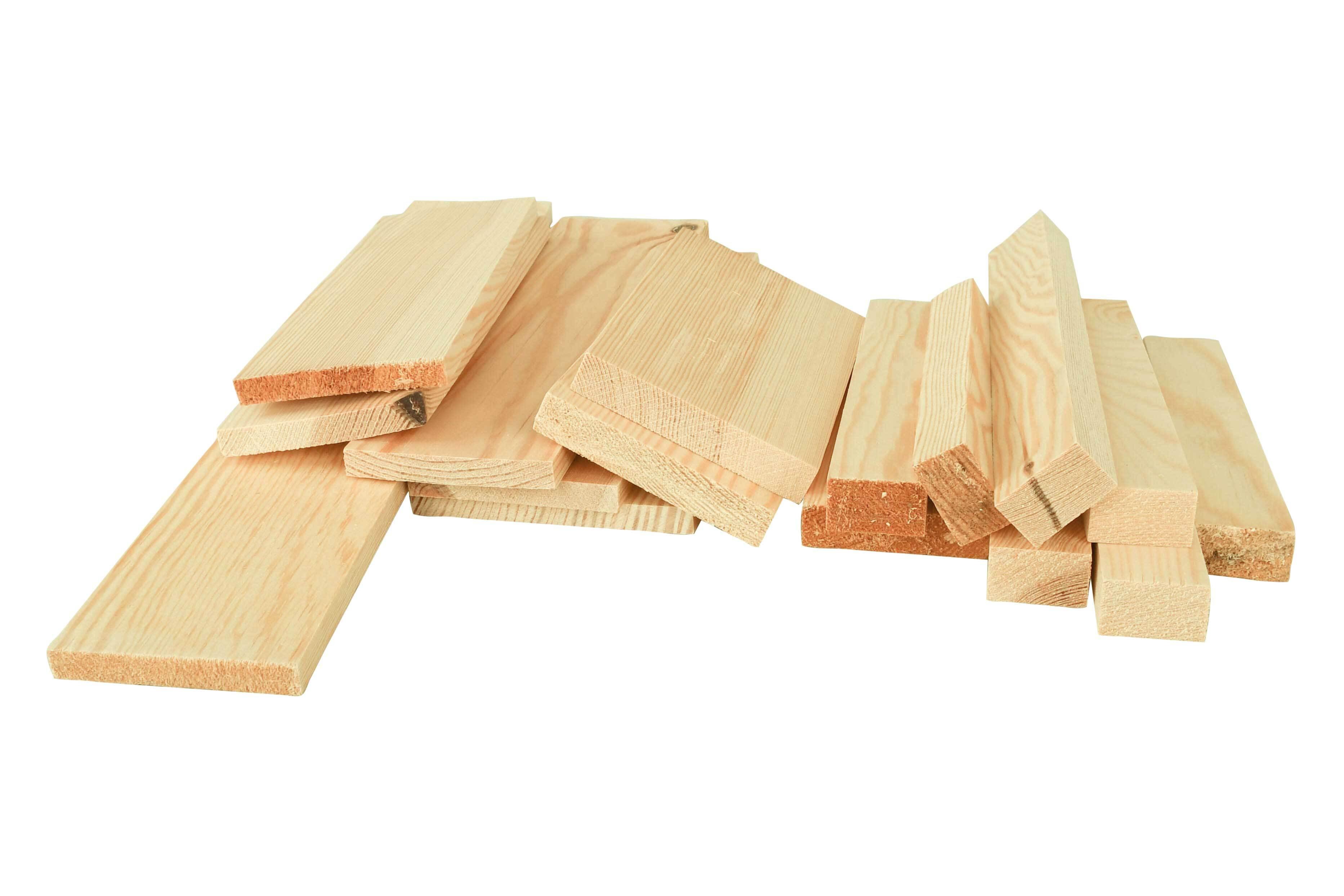 Houten blokjes - grenen, ca. 3 meter