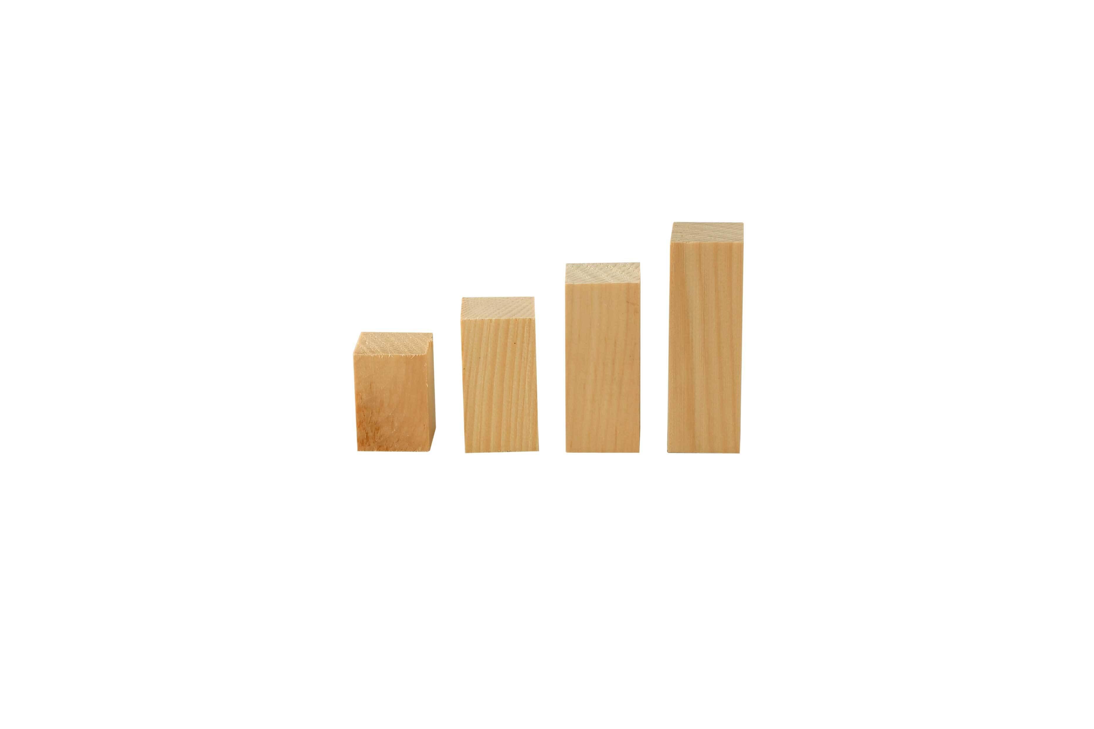 Blocs de construction en pin Cembro -0,5 kg, 2x2cm