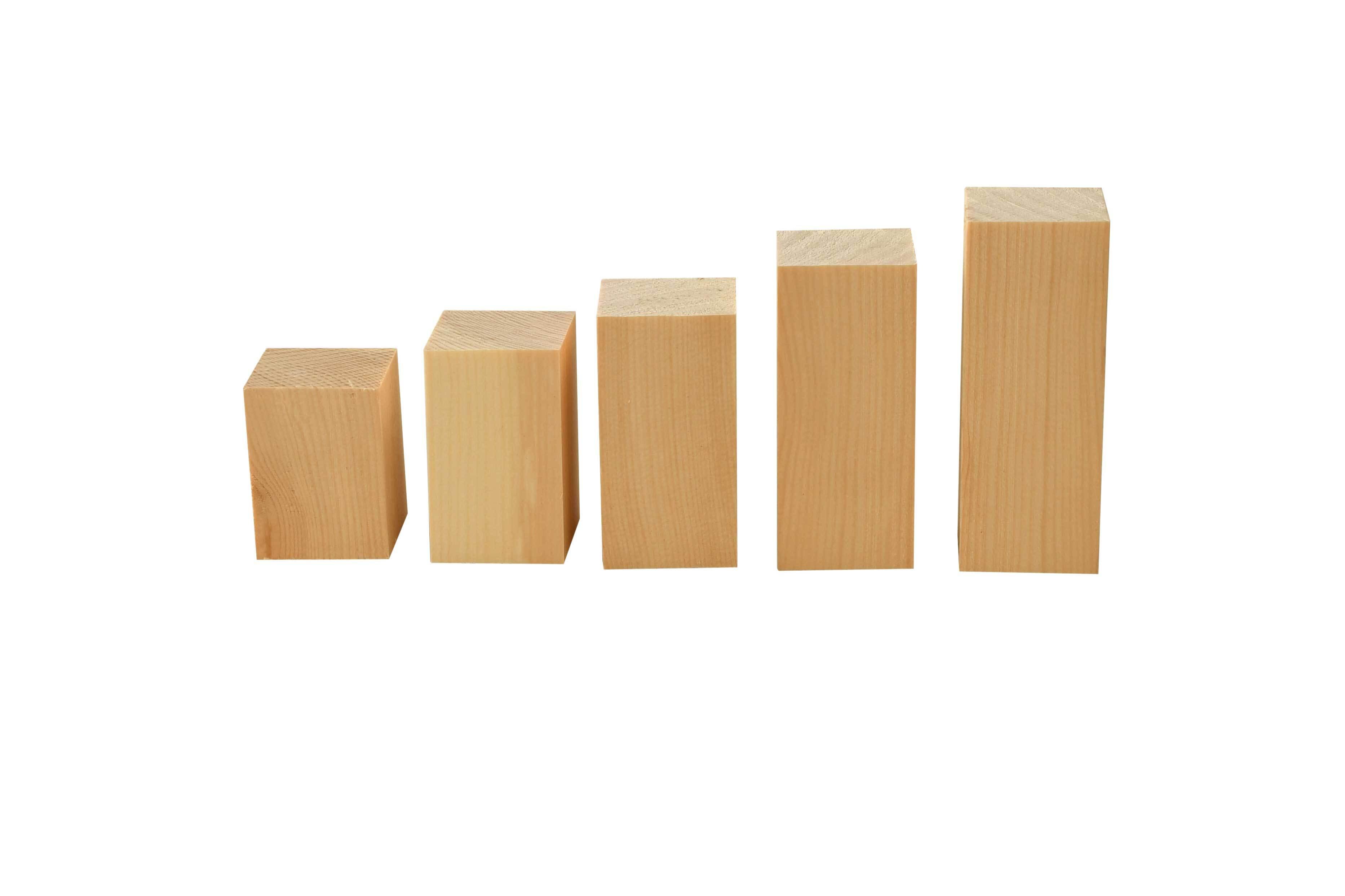 Holzbausteine Zirbe - 0,5kg, 3x3 cm