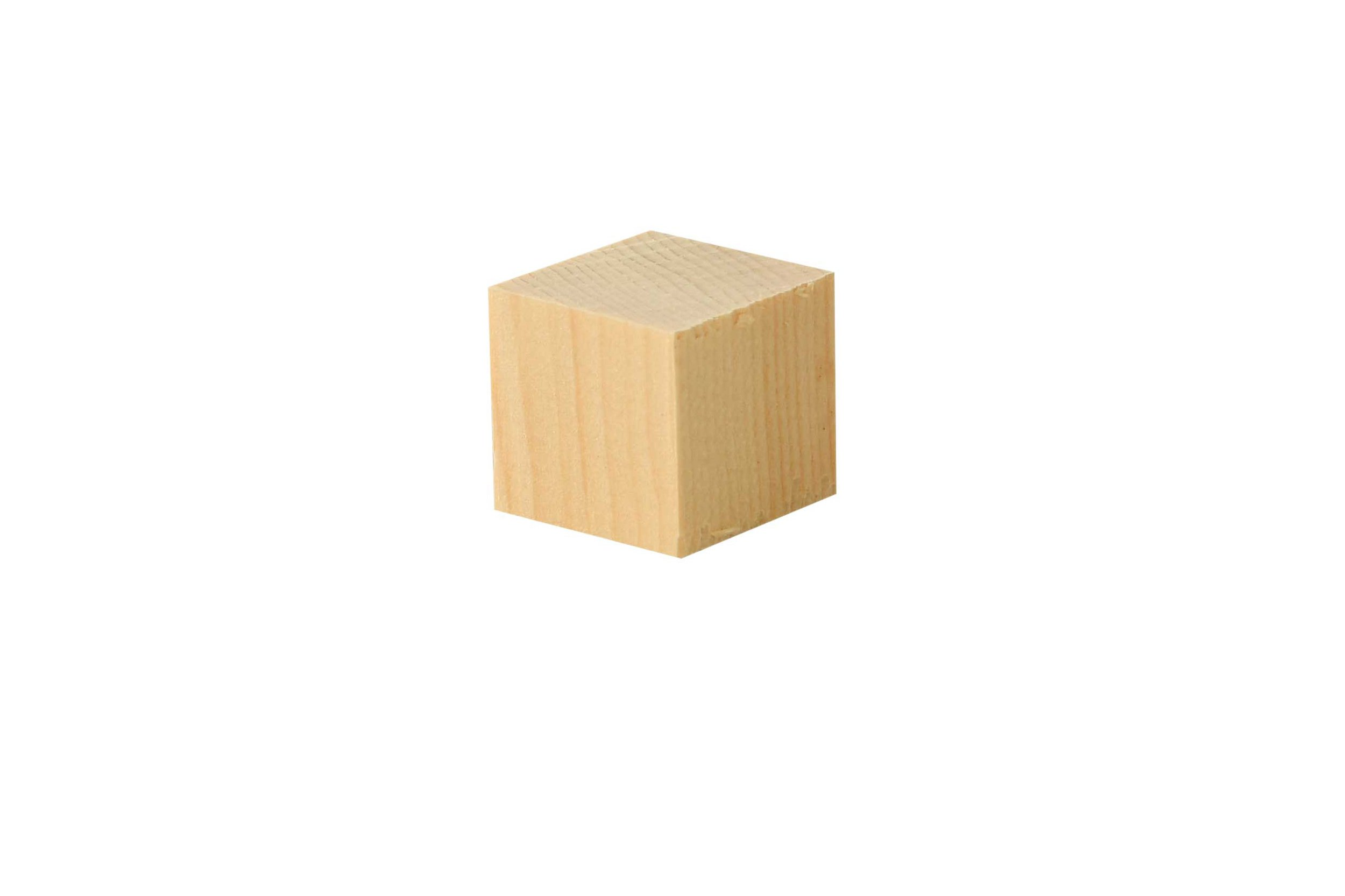 Cubes en pin Cembro - 50 pces, 2x2x2 cm