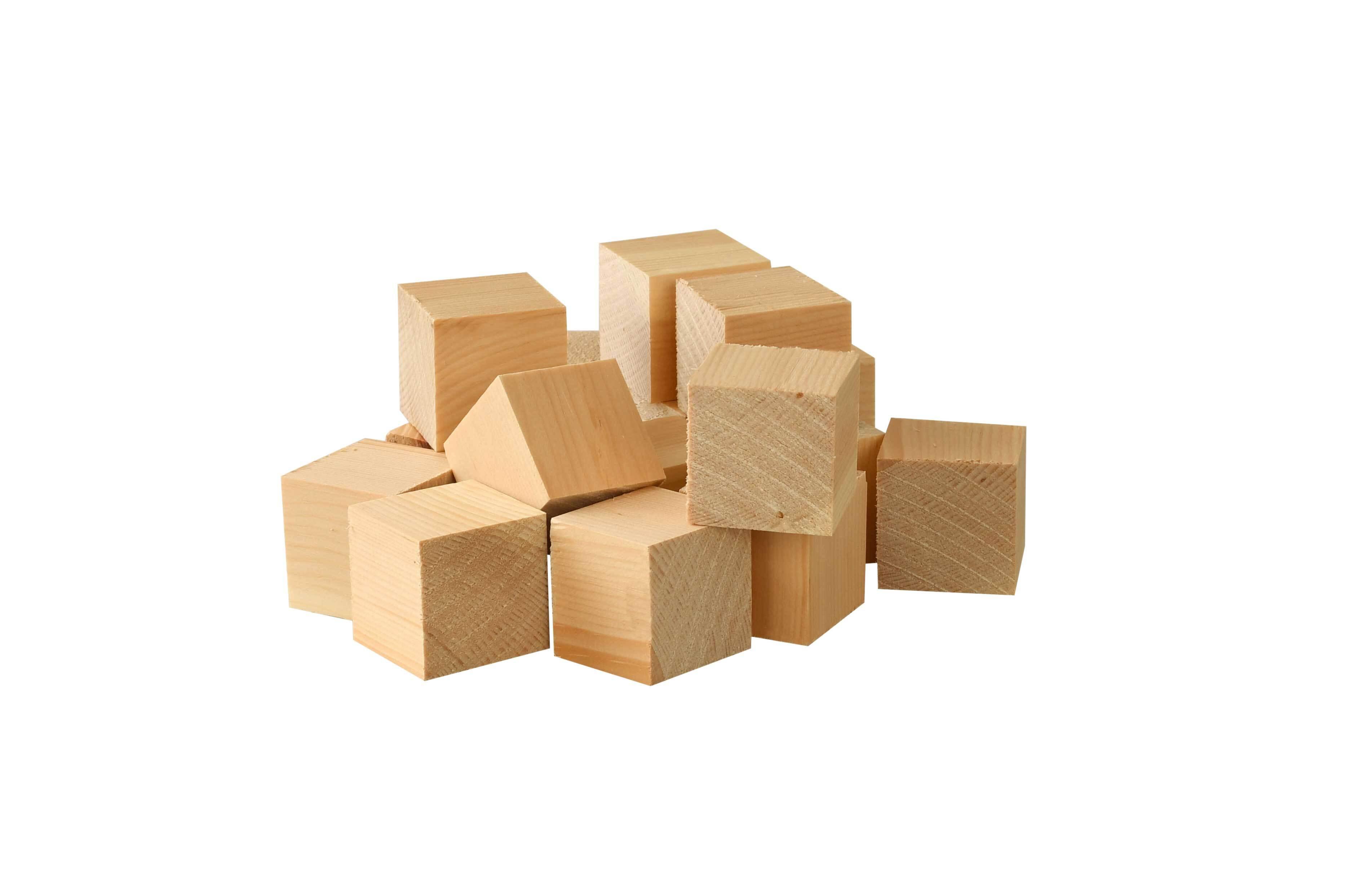 Holzwürfel Zirbe - 50er Pkg., 3x3x3 cm
