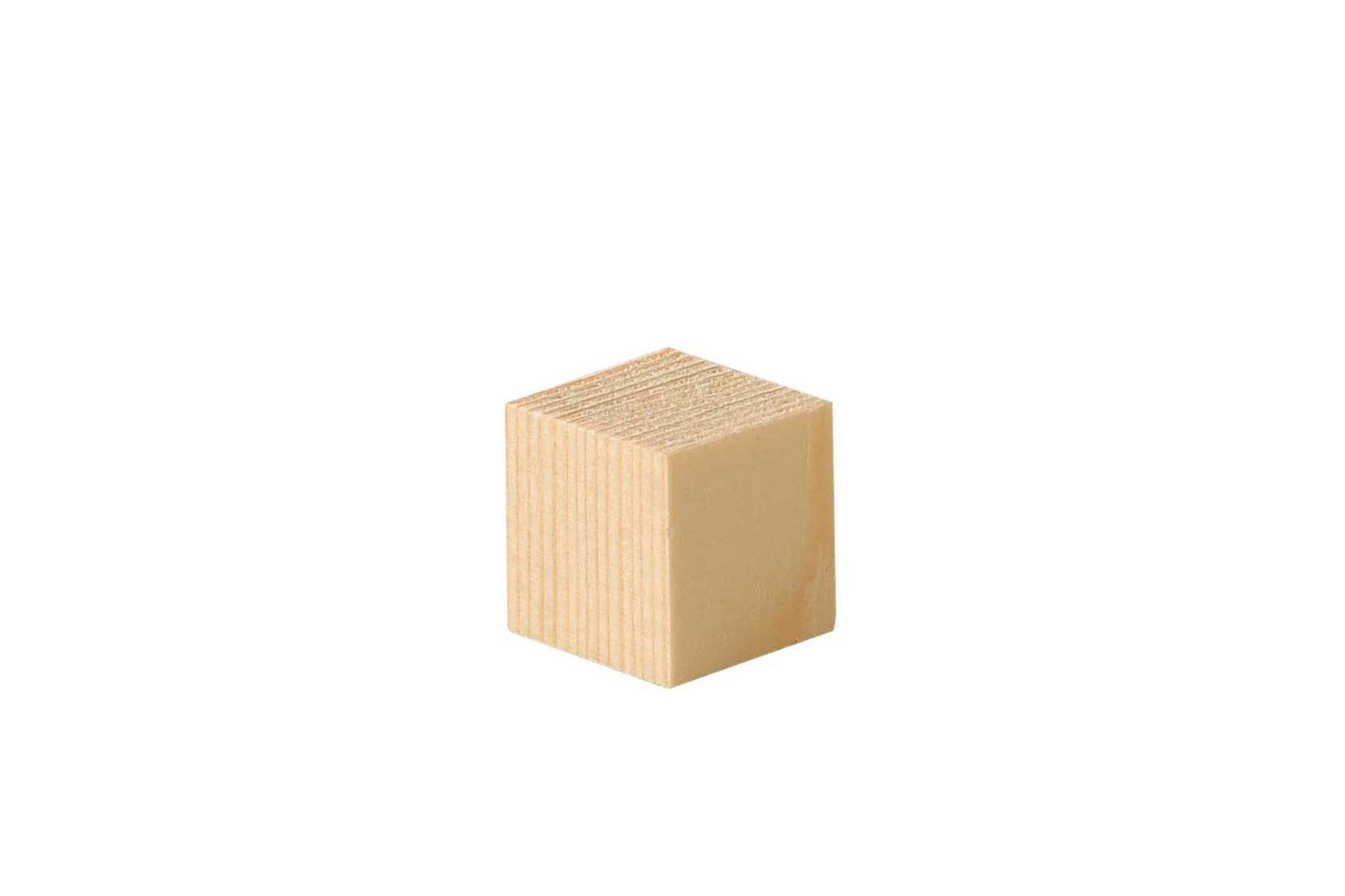 Cubes en bois sapin - 50 pces, 2x2x2 cm