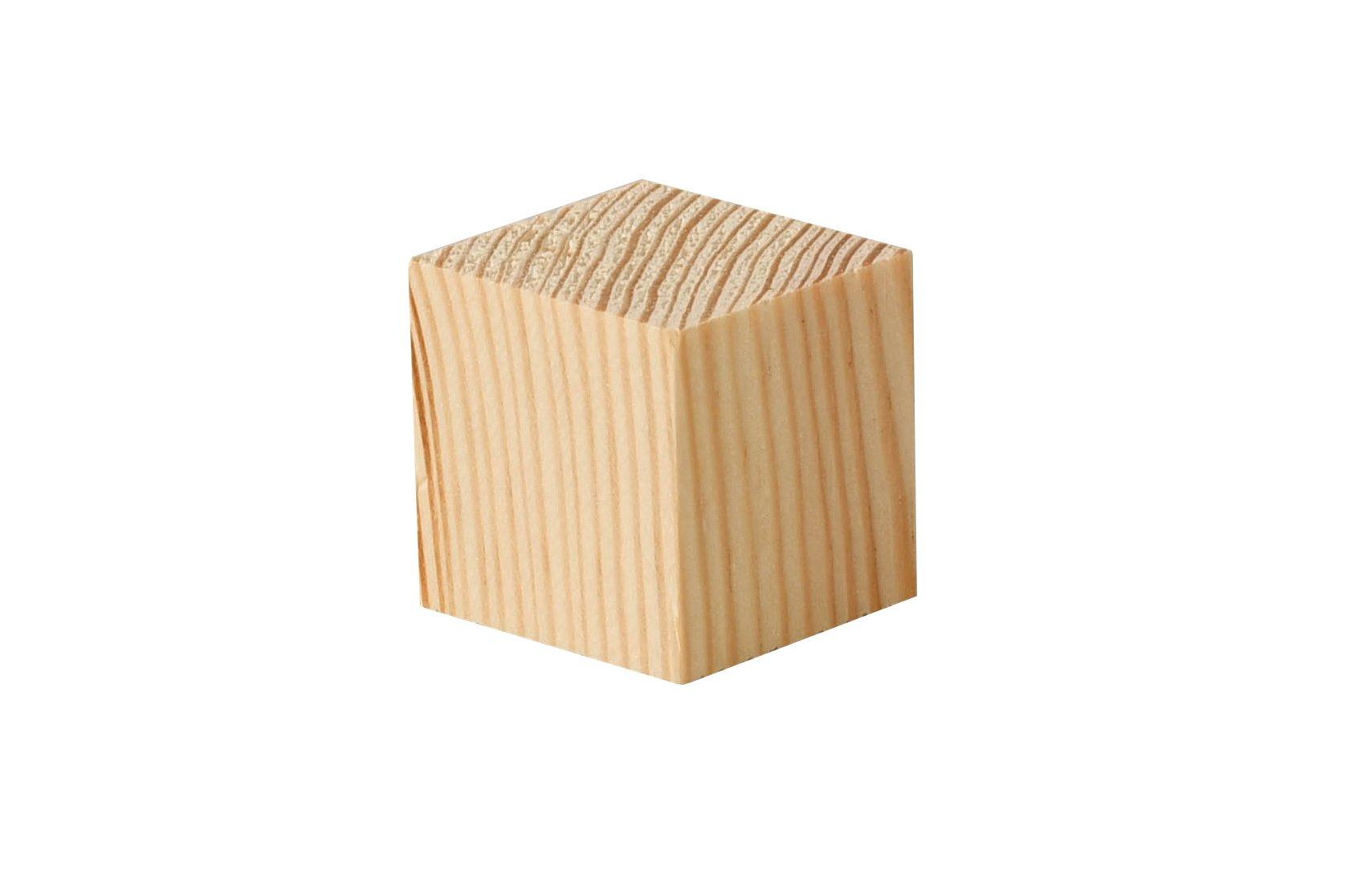 Cubes en bois sapin - 50 pces, 3x3x3 cm