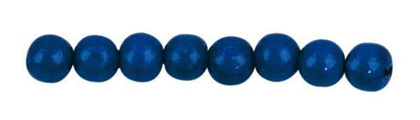 Perles en bois Ø 8 mm - 85 pces, bleu