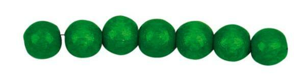 Houten kralen Ø 10 mm - 56 st., groen