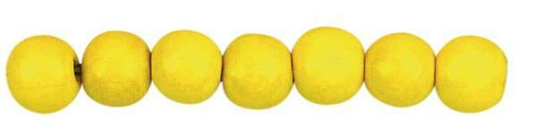 Perles en bois Ø 6 mm - 125 pces, jaune