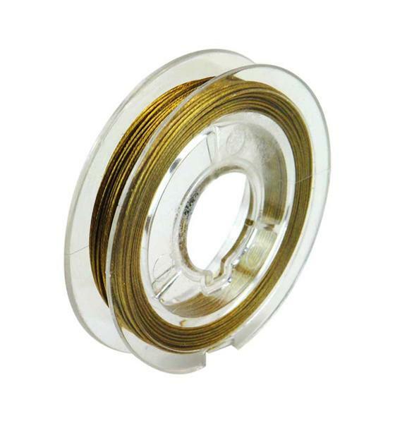 Nylon coated Edelstahldraht, gold
