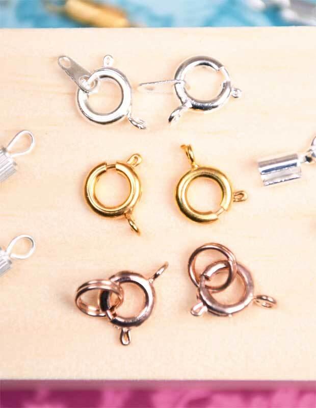 Fermoir anneau  à ressort - 50 pces, doré